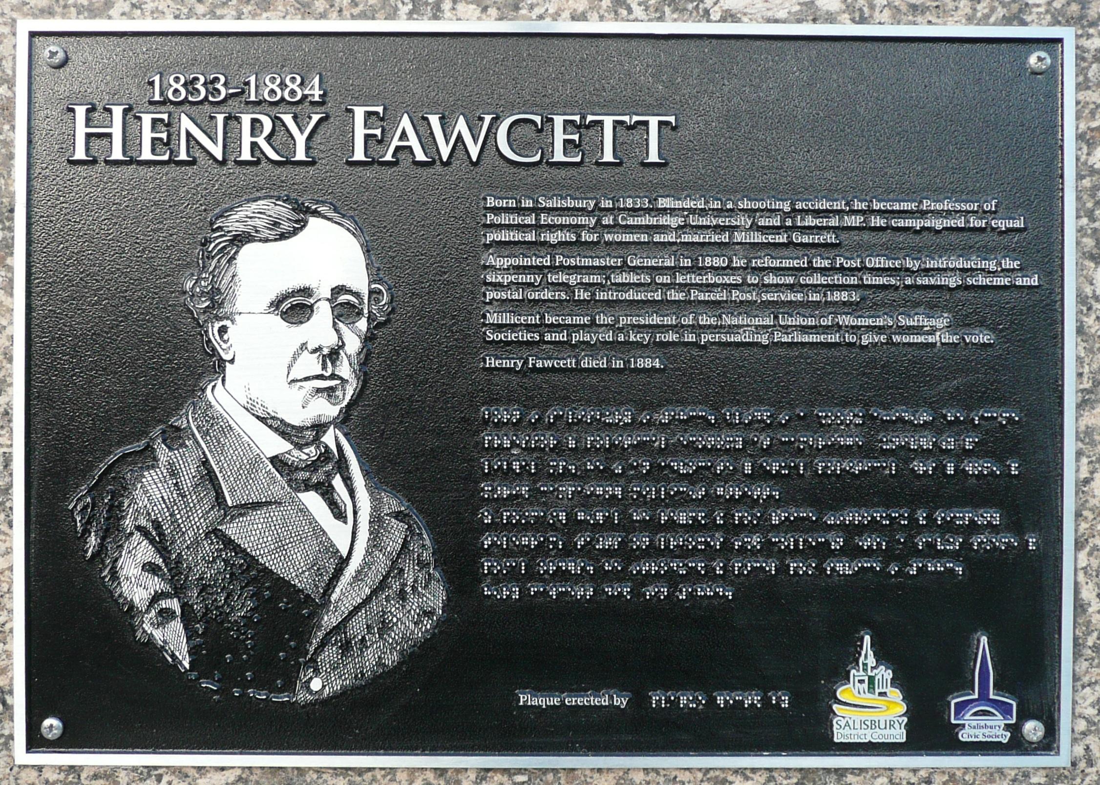 Henry Fawcett (1833 – 1884)